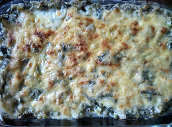 Cheesy Baked Spinach - Full