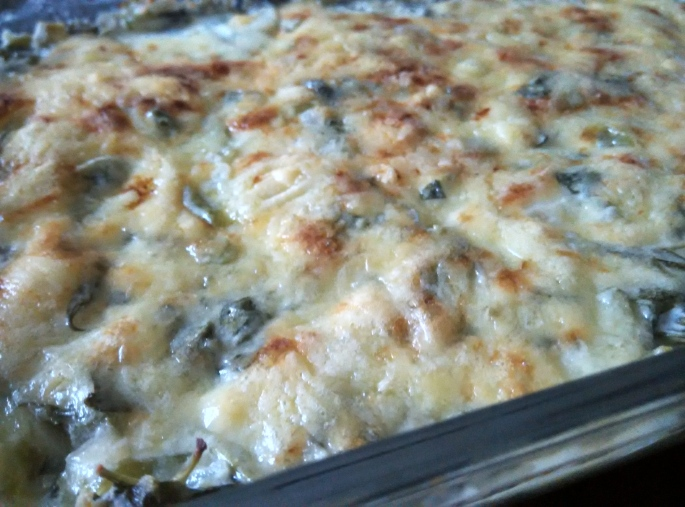 Cheesy Baked Spinach - A
