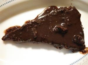 Chocolate Cake with Ganache Slice