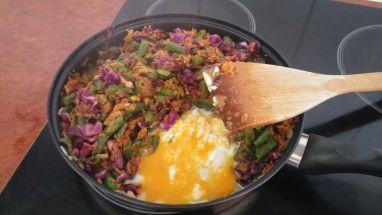 Cabbages Stir-Fry - Egg