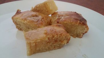 Gulab Jamum-Inspired Cake - Slices